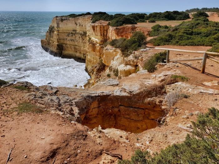 Albandeira walk blowhole,Portugal