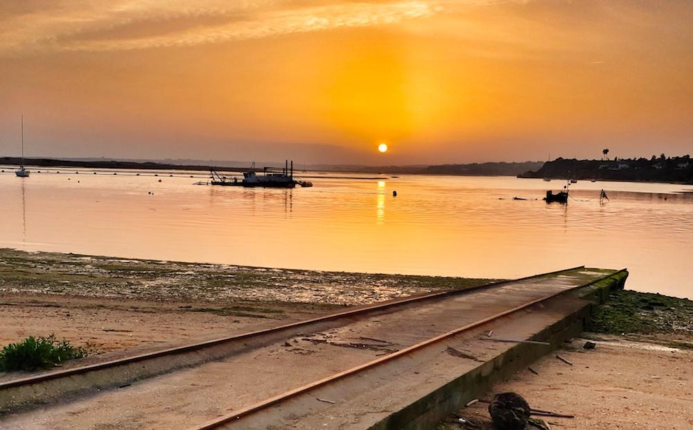 Alvor harbour sunset