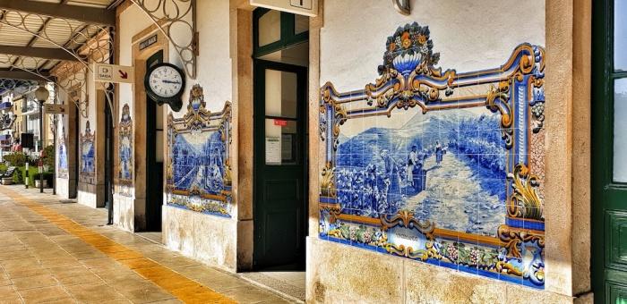 Train Station tiles Pinhão,Portugal
