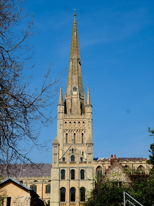 Cathedral spire,Norfolk, UK