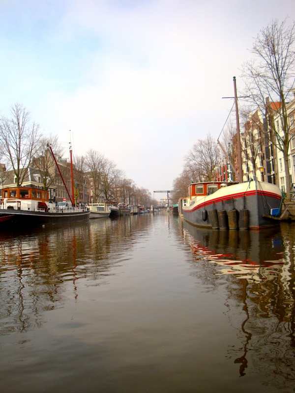 Amsterdam waterways,The Netherlands