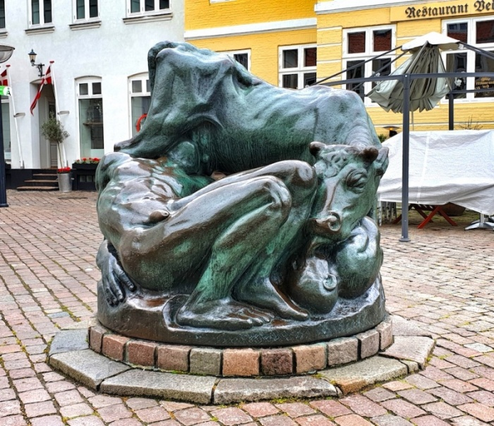 Faaborg statue, Faaborg, Denmark