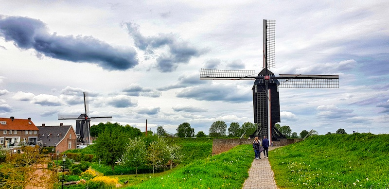 Heusden windmills, The Netherlands