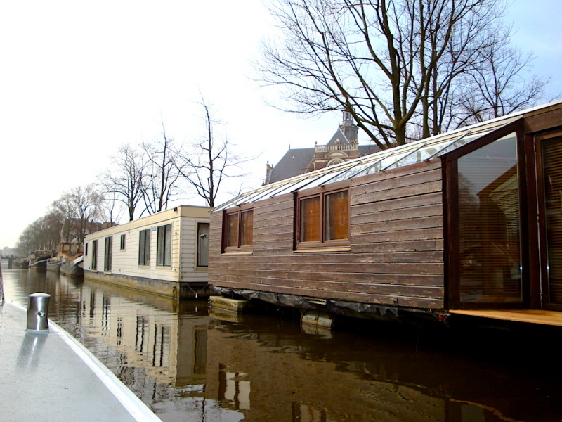 Amsterdam houseboats,The Netherlands