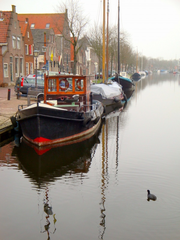 Edam canalboats, Holland, The Netherlands