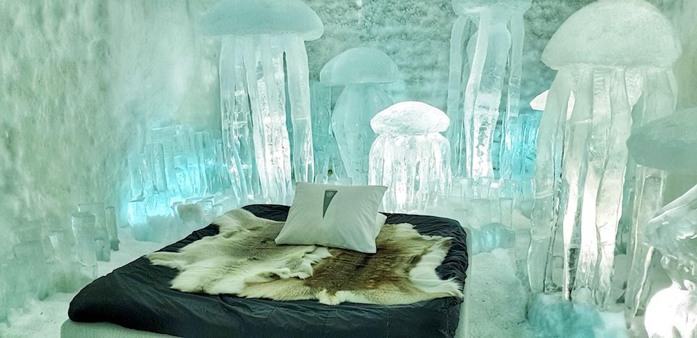 Hydrosmack, Ice Hotel room, Icehotel, Jukkasjärvi, Sweden