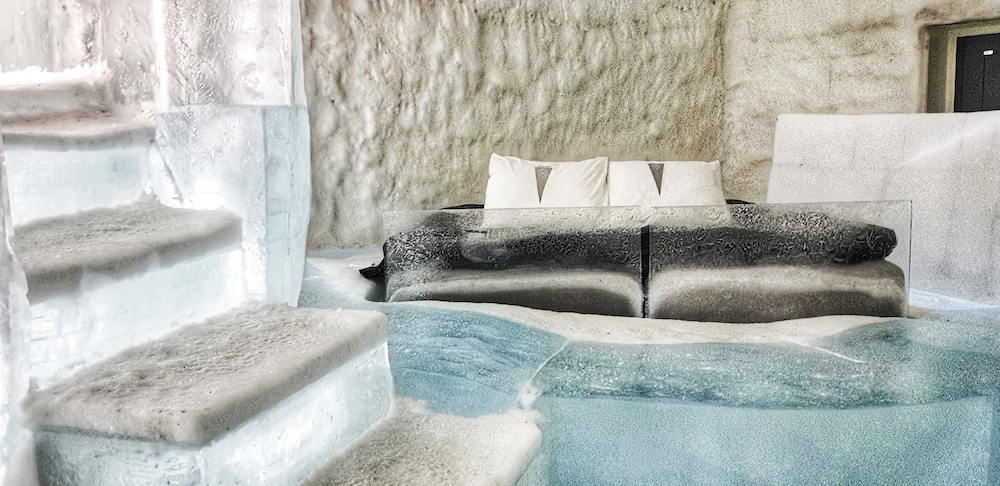 Ice Hotel room,