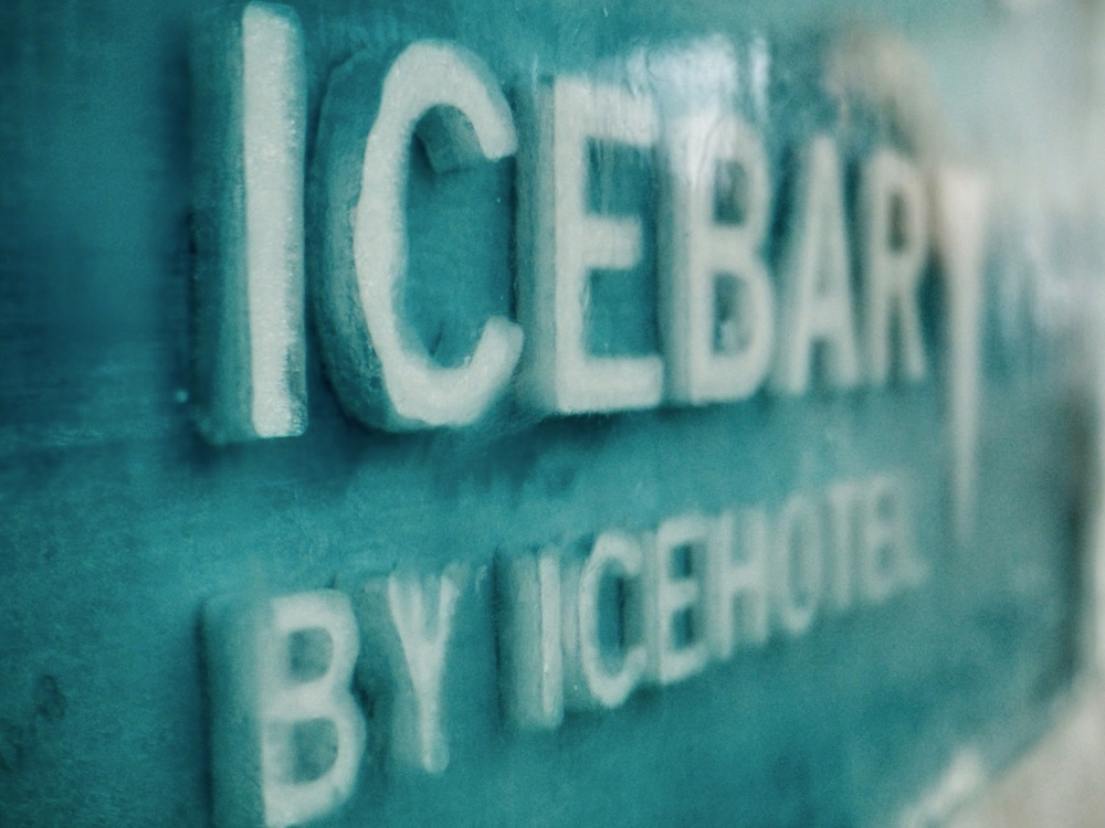 Icebar abstract