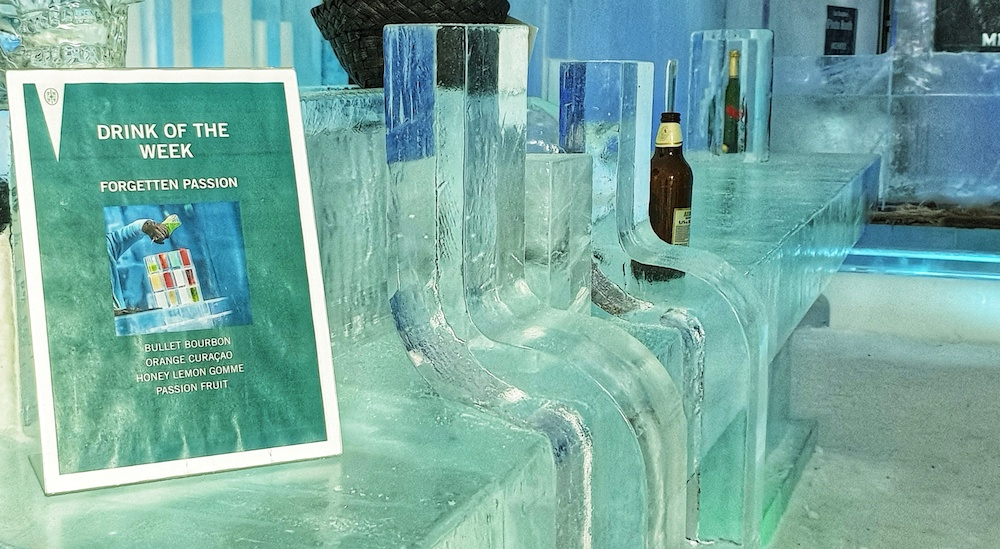Icebar, Icehotel, Jukkasjärvi, Sweden