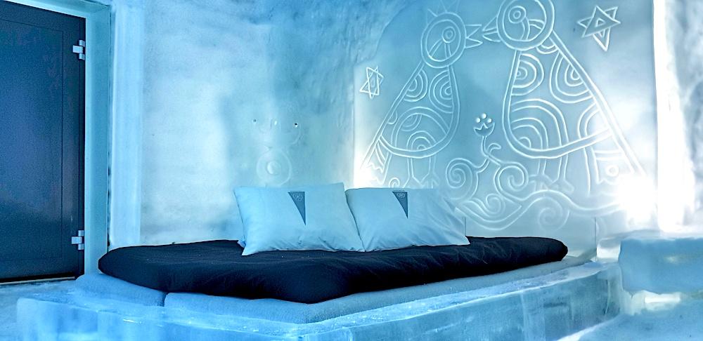 Kiss room, Ice Hotel room, Icehotel, Jukkasjärvi, Sweden