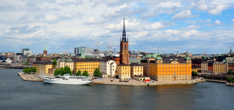 Stockholm's city scape view, Sweden