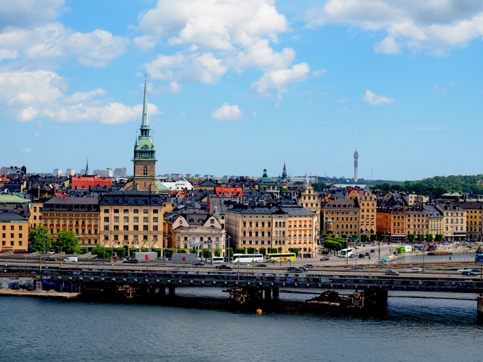 Stockholm cityscape vantage point, Sweden