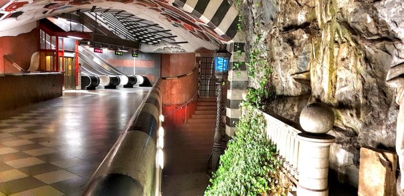 Stockholm's underground gallery, Sweden
