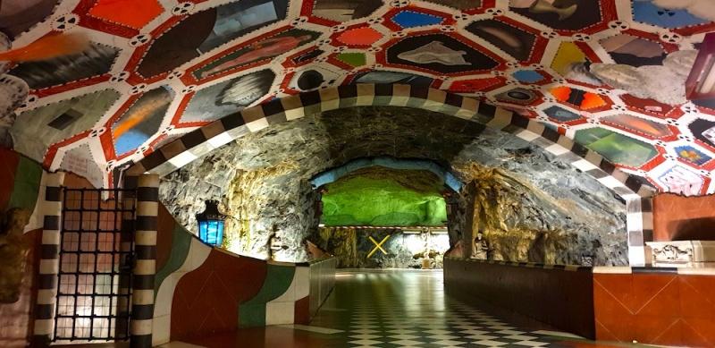 Underground art Stockholm, Sweden