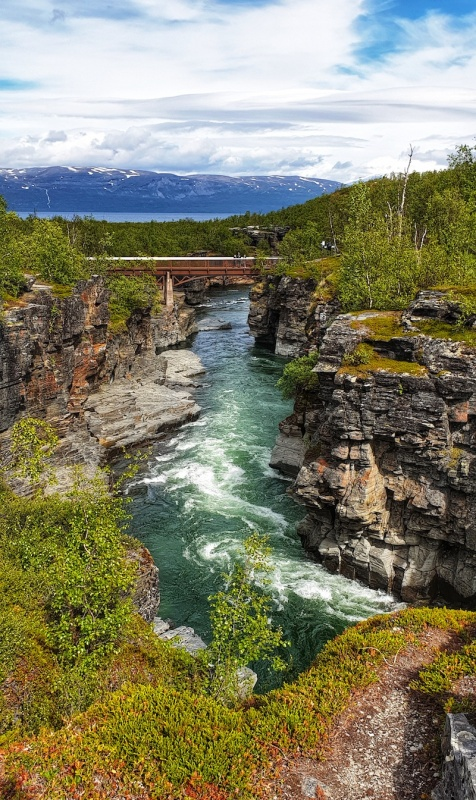 Abisko canyon walk, Sweden