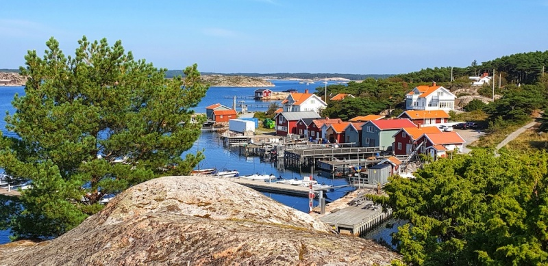 Resö fishing village on the Bohuslän coast, Sweden