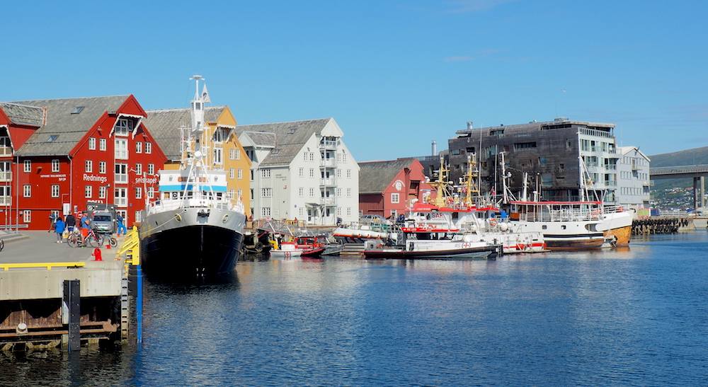 Tromsø wharf and harbour