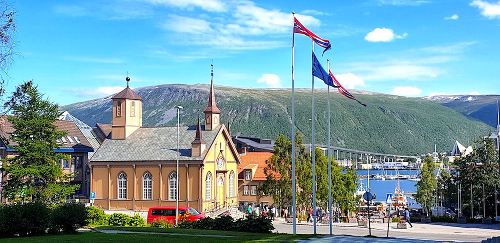 Tromso old town view, Norway
