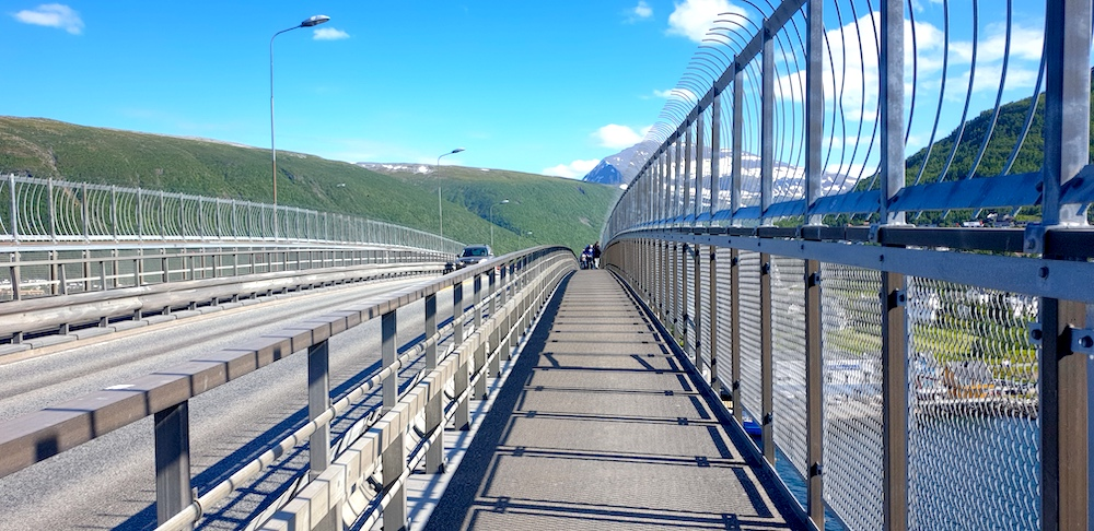 Tromso city bridge