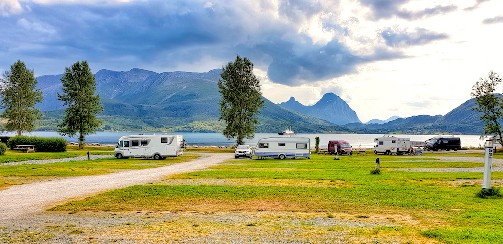 Furoy campsite and ferry, Norway
