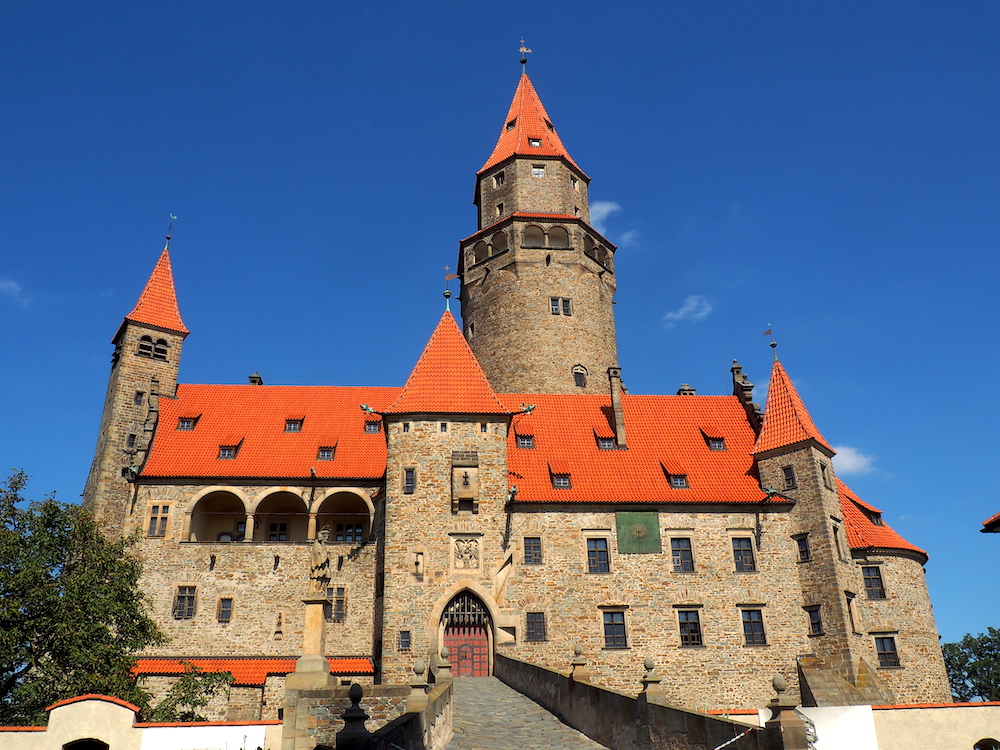 Bouzov Castle and tower