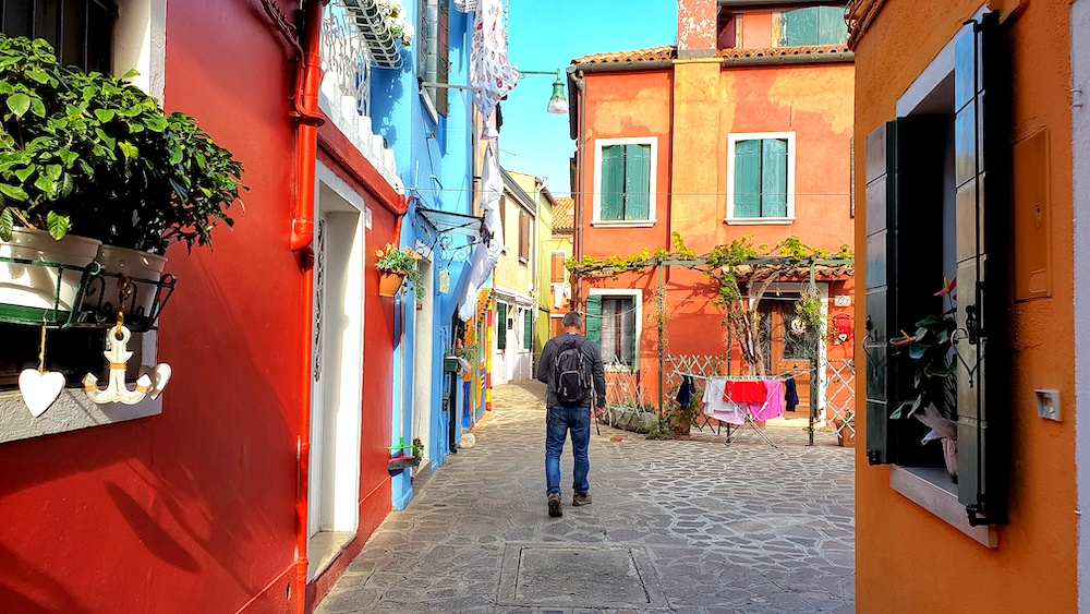 Burano back street Venice