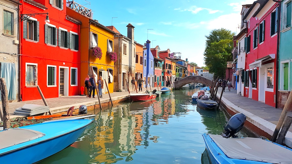 Burano canal side Venice