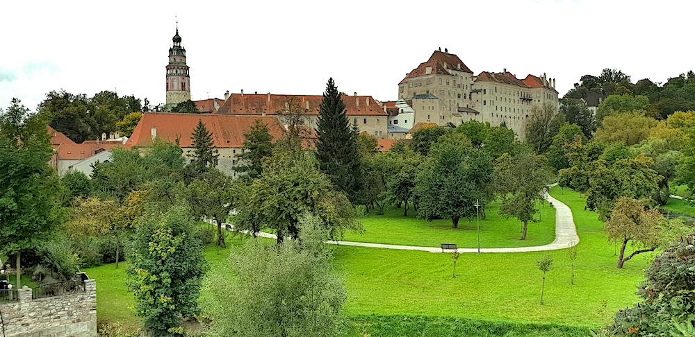 Cesky Krumlov Castle view