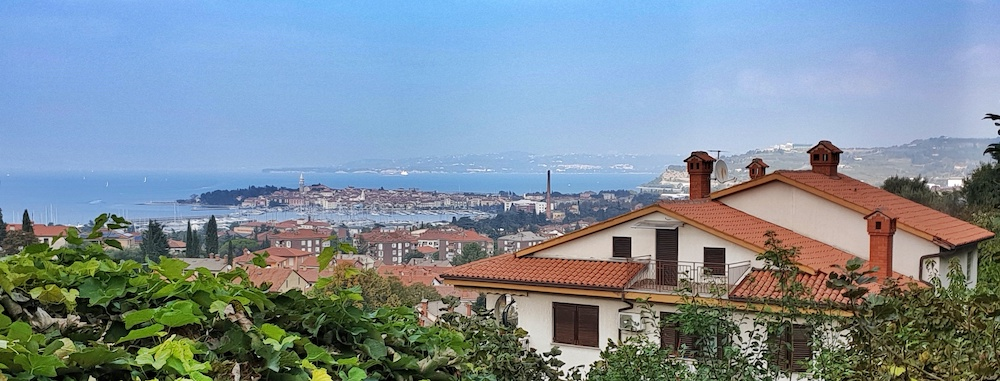 Izola from Parenzana Cycle track