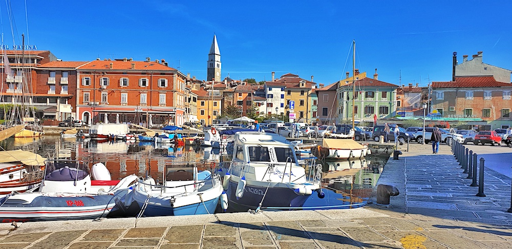 Izola old town harbour