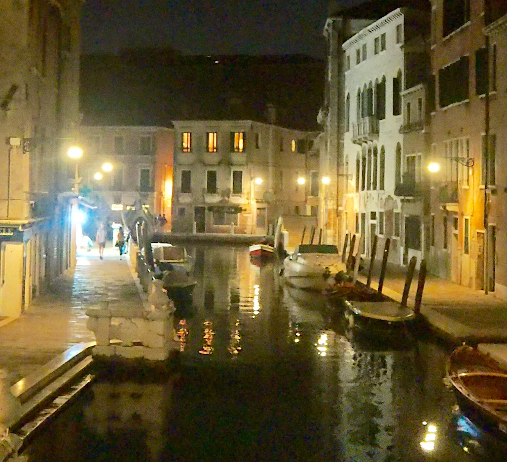 Venice, by night