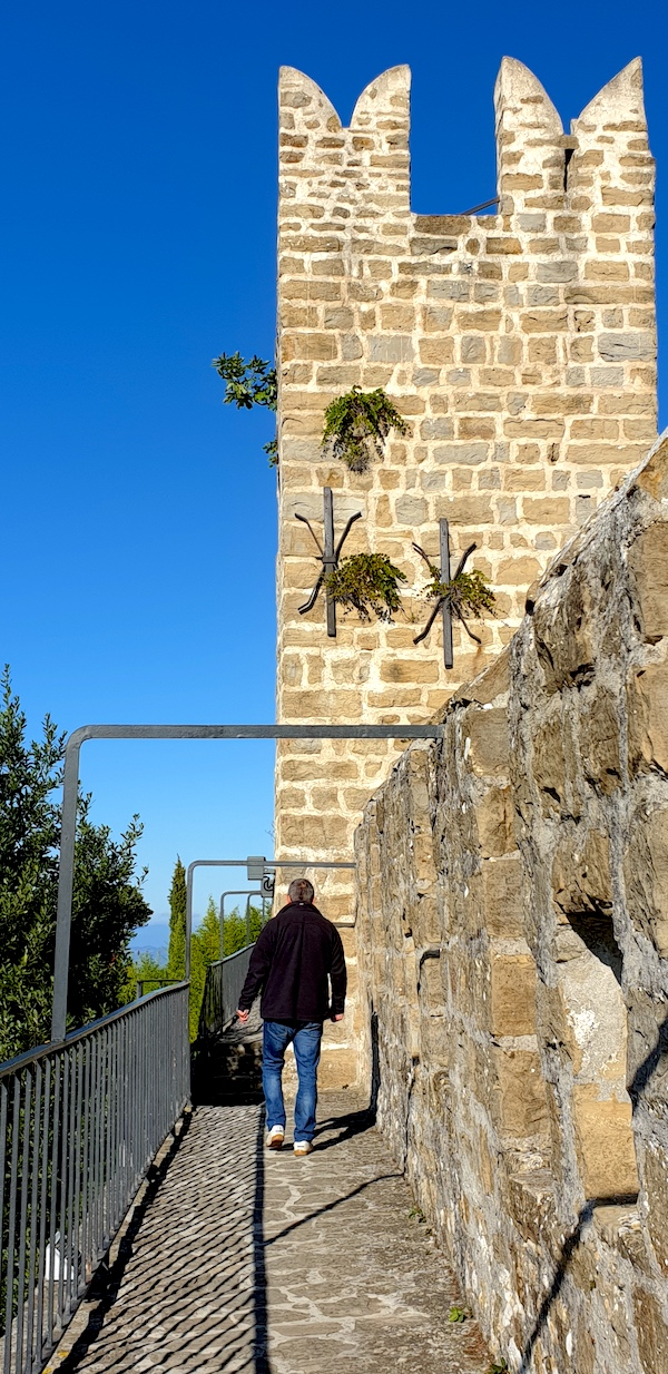Piran old walls, tower