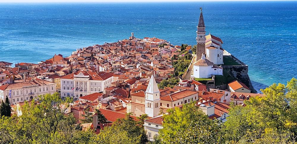 Piran peninsular panorama, Slovene Riviera
