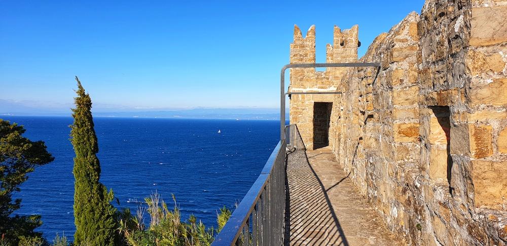 Piran town walls Adriatic Sea