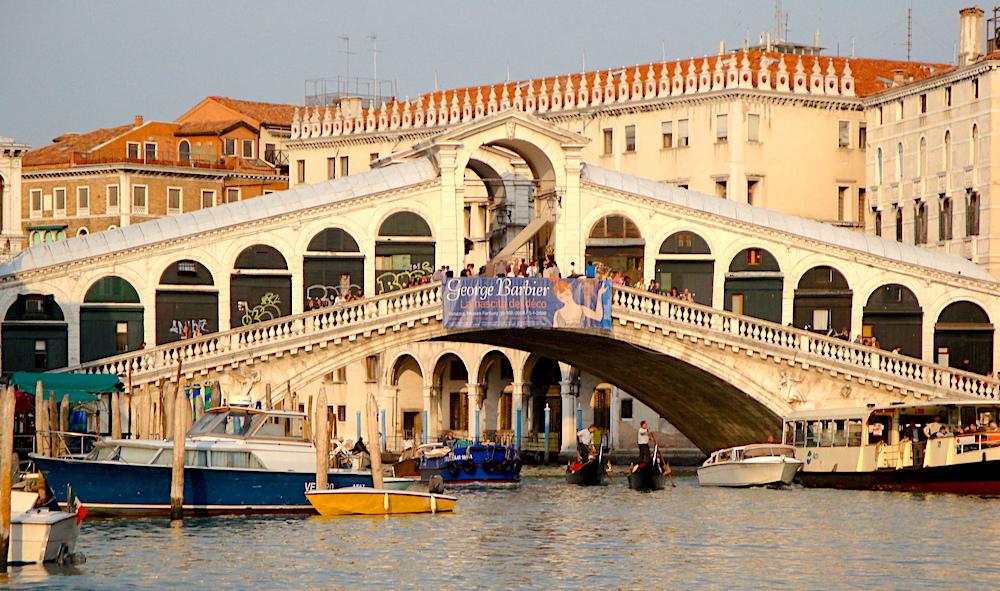 Rialto water's edge Venice