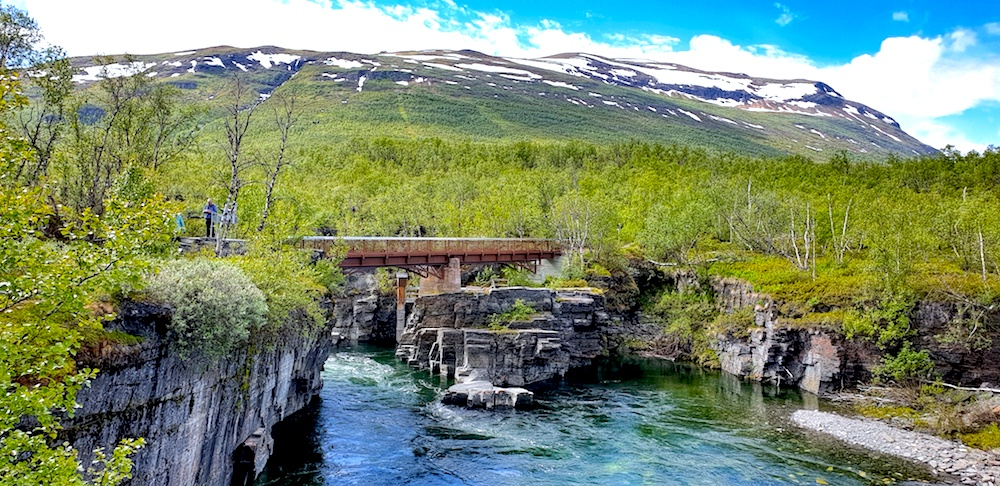 Abisko gorge bridge