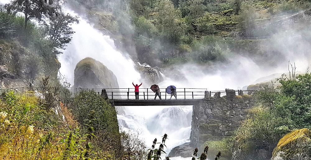 Briksdalen Waterfalls