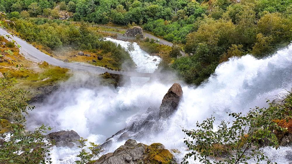 Briksdalen Waterfall