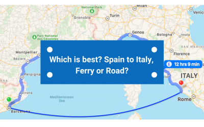 Which is best? Spain to Italy – Road or Ferry?