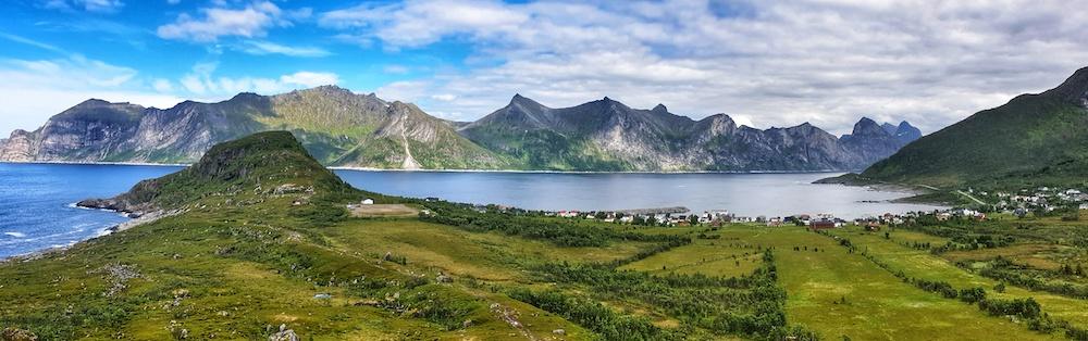 Mefjord panorama, Senja