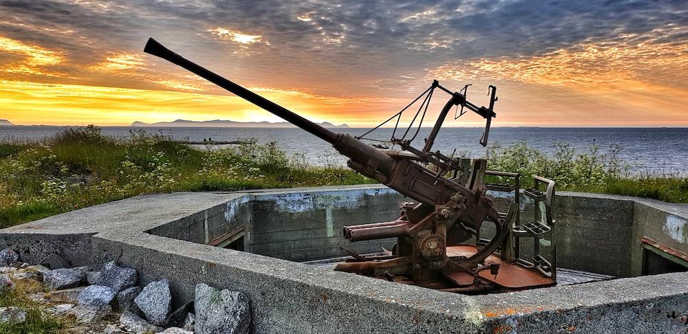 WW2 Gun Skrolsvik Senja