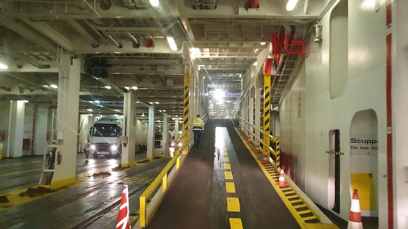 Boarding the ferry